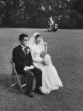 Bride and Groom Posing for Wedding Pictures Premium Photographic Print by John Dominis