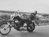 Hell's Angels Bike Rider Photographic Print by Bill Ray