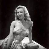 Movie Starlet Marilyn Monroe Posing in Studio Premium Photographic Print by J. R. Eyerman