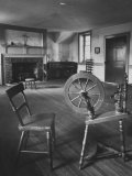 Spinning Wheel Standing in the Home of Mother Seton, the Foundress of the Charity Order in the Us Premium Photographic Print by Hank Walker