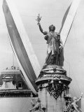 Statue in the Place de La Republique Photographic Print by Loomis Dean