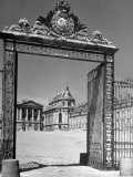 The Gates of the Versailles Palace, Built in the 18th Century, Where Royalty Resided Premium Photographic Print by Hans Wild