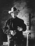 Raymond Holt, an Arizona Bachelor Cowboy for 57 Years Premium Photographic Print by John Loengard
