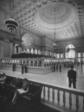 Bank Floor of National City Bank Premium Photographic Print by Herbert Gehr