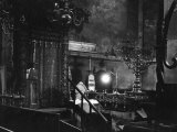 Interior of the Old New Synagogue, Built 1250, Oldest Operating Synagogue in Europe Photographic Print by John Phillips