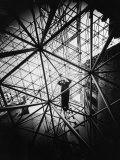 Architect Buckminster Fuller Explaining Principles of Dymaxion Building Premium Photographic Print by Yale Joel