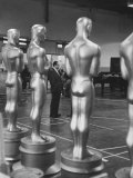 Large Replicas of Oscars Used for Decoration at Academy Awards Show Premium Photographic Print by Leonard Mccombe
