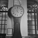 148 Year Old Clock at Wall Street Photographic Print by Herbert Gehr