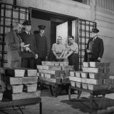 Silver Bars Arriving at Chase National Bank Photographic Print by Herbert Gehr