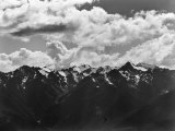 Snowy Peaks of the Olympic Mountains Photographic Print by Peter Stackpole
