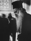 Patriarch Athenagoras at Daily Early Morning Prayer in His Private Chapel Photographic Print by Carlo Bavagnoli