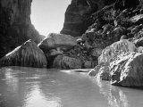 Mariscal Canyon, with Steep, Jagged Walls Rising Sharply from River, at Big Bend National Park Photographic Print by Myron Davis
