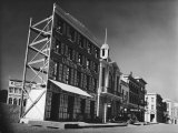 Street Set Used in Production of Movie Westerns on Paramount Studios Ranch Premium Photographic Print by Margaret Bourke-White