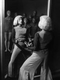 Costumed Dancer at the Truempy Dance School Performing in Front of a Mirror Premium Photographic Print by Alfred Eisenstaedt