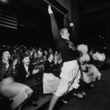 Cheering Section of Cheerleaders in Spokane Coliseum Photographic Print by J. R. Eyerman