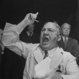William J. Jung Shouting on Floor of Stock Exchange Photographic Print by Herbert Gehr