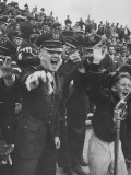 Air Force Academy Cadets Cheering During Game Premium Photographic Print by Leonard Mccombe
