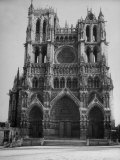 Exterior View of Amiens Cathedral Photographic Print by Nat Farbman