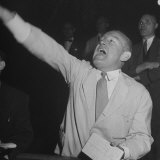 Bernard J. Conlin Shouting on Floor of Stock Exchange Photographic Print by Herbert Gehr