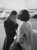 Mrs. Sharon Walsh, Whose Husband MIA Since Feb. 1969, Comforted by POW Wife Mrs. Harold Kushner Premium Photographic Print by Leonard Mccombe