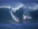 Surfers, Sunset Beach, Oahu, Hawaii Premium Photographic Print by George Silk