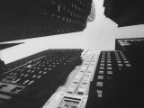 Wide Angle of Tower Buildings of Wall St Photographic Print by Eliot Elisofon