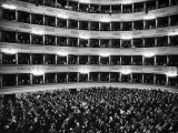 Full Capacity Audience at La Scala Opera House During a Performance Conducted by Antonio Pedrotti Premium Photographic Print by Alfred Eisenstaedt
