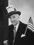 Joseph R. Mccarthy Supporter Wearing a Pro-Mccarthy Hat Premium Photographic Print by Hank Walker