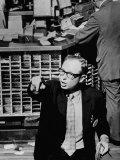 Man Working at the New York Stock Exchange Premium Photographic Print by Bob Gomel
