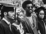 Graduating Africian Americans Wearing African Style Fashions at Howard University Premium Photographic Print by Charles H. Phillips