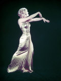 "Actress Marilyn Monroe Wearing Gold Gown Designed by Bill Travilla for ""Gentlemen Prefer Blondes"" Premium Photographic Print by Ed Clark"