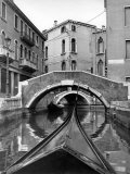 Canal on Island of Burano in Venetian Lagoon Premium Photographic Print by Alfred Eisenstaedt