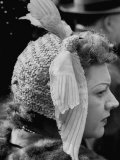 Woman Wearing Bird Decoration in Hair at Dwight D. Eisenhower's Inauguration Premium Photographic Print by Cornell Capa