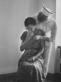 Nurse Trying to Comfort an Elderly Patient Photographic Print by Carl Mydans