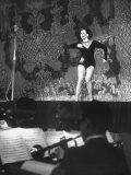 Dancer Ann Miller, Wearing Tights on Stage Performing for Chicago Jefferson Jubilee Premium Photographic Print by Hank Walker