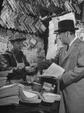 "Milton W. Holden of Bull, Holden and Co. Buying Paper from the Famous ""Morris the Newsboy"" Premium Photographic Print by Herbert Gehr"
