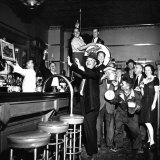 Brooklyn Dodger Fans at a Bar Celebrating Dodgers' Winning of the National League Pennant Photographic Print by George Strock