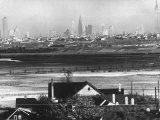 Manhattan Skyline from New Jersey Premium Photographic Print by Andreas Feininger