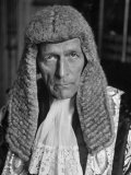 Portrait of the Lord Chancellor, Lord William Jowitt Premium Photographic Print by Ian Smith