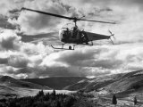 Helicopter Flying in Unidentified Location Photographic Print by Margaret Bourke-White