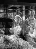 Children Watching a Popcorn Working Premium Photographic Print by J. R. Eyerman