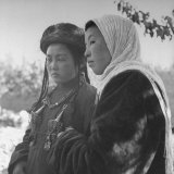 Close-Up of Two Girls from Nomad Families Photographic Print by William Vandivert