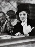 Singer Actress Marlene Dietrich Wearing Tuxedo and Top Hat at Ball for Foreign Press Premium Photographic Print by Alfred Eisenstaedt