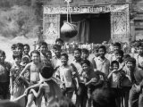 Laotian Boys Playing Games During a Religious Festival Premium Photographic Print by John Dominis