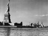 View of the Statue of Liberty and the Sklyline of the City Photographic Print by Margaret Bourke-White