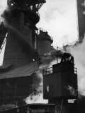 Blast Furnace at Jones and Laughlin Steel Plant Premium Photographic Print by Margaret Bourke-White