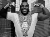 Mr. T Flexing, Showing off Muscles and Jewelry Premium Photographic Print