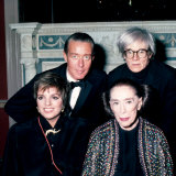 Actress Singer Liza Minnelli and Choreographer Martha Graham with Designer Halston and Andy Warhol Premium Photographic Print by Ann Clifford