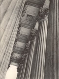 View of Columns and Carved Ceiling on the Portico of the Supreme Court Building Photographic Print by Margaret Bourke-White