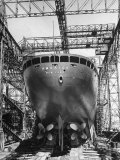 Ocean Liner America in Shipyard Prior to Launch Premium Photographic Print by Alfred Eisenstaedt